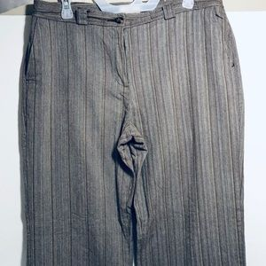 Cato- Sloan Brown, Striped, Dress Pants-Women's-14